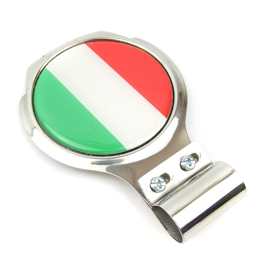 Bar Badge/Plaque - Italian Flag - Stainless Steel