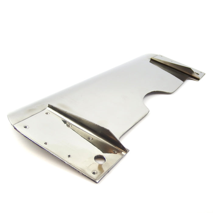 Lambretta Series 2 Centre Stand Splash Plate - Polished Stainless Steel