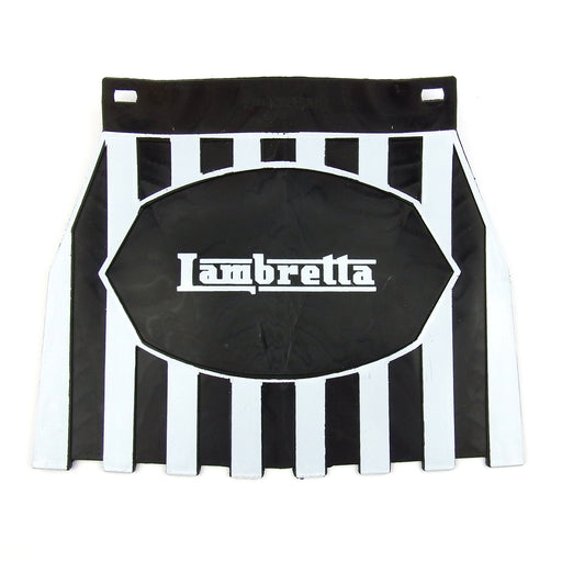 Striped Mudflap Lambretta - Black and White