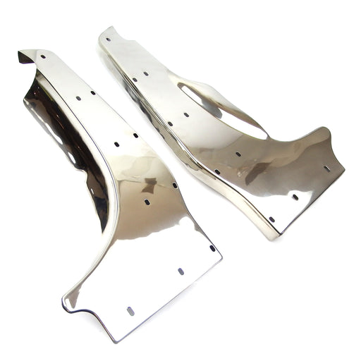 Lambretta Series 3 Li GP DL SX TV Rear Runner Boards - Polished Stainless Steel