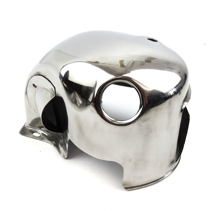 Lambretta GP Cylinder Head Cowling - Polished Stainless Steel