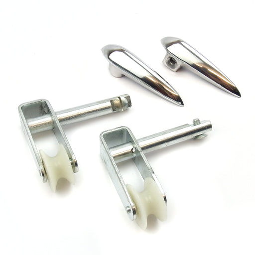 Lambretta - Side Panel Handle Kit - Roller Style - Series 3