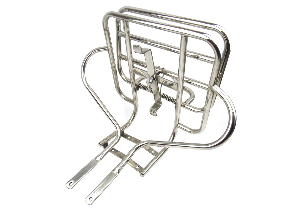 Vespa VLB/VBB 2 in 1 Jimmy Style Rear Rack Polished Stainless Steel