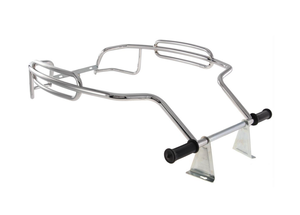Vespa PX PE T5 LML Side Panel Protector Bars Florida Tri Bar Chrome