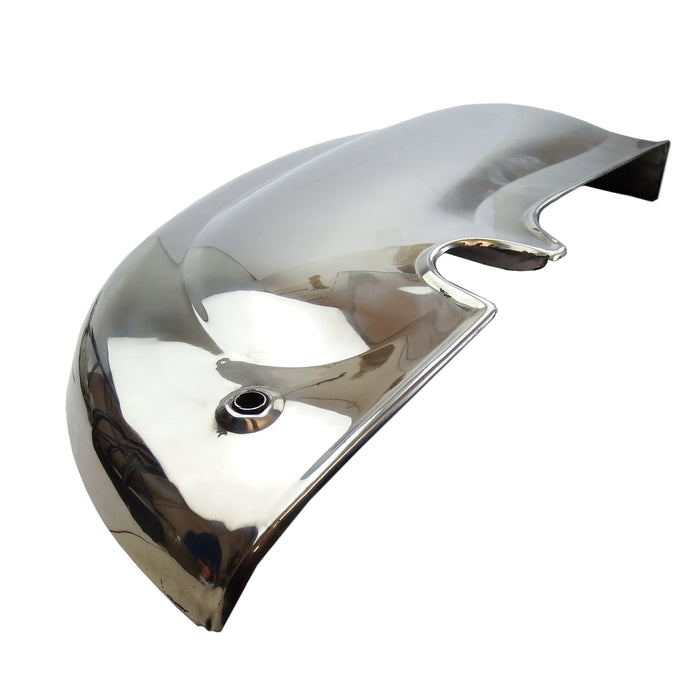 Lambretta - Stainless Steel Side Panels - Li Series 2 - With Handle Holes - Pair