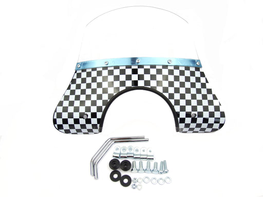 Vespa Fly Screen MOD Style PX, PE, T5, LML Chequered