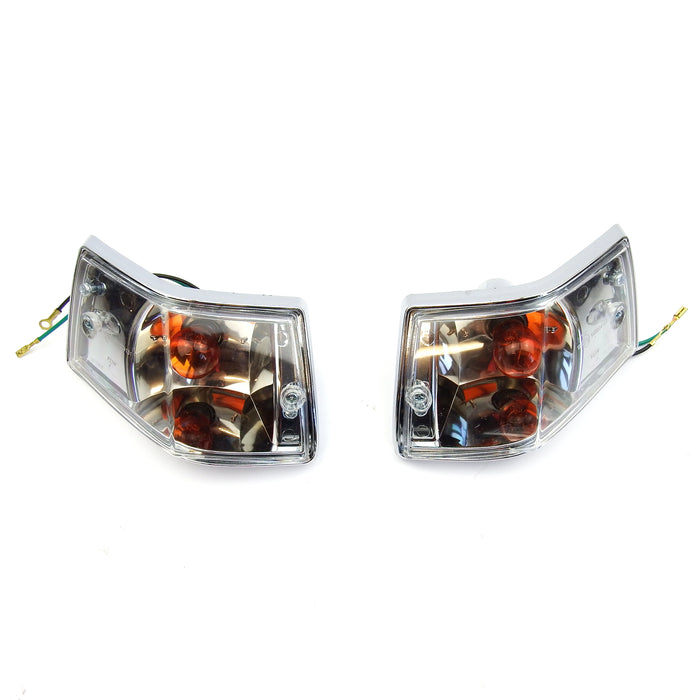 Vespa PX/PE/T5 Lexus Style Indicator Units With Built In LED Running Lights