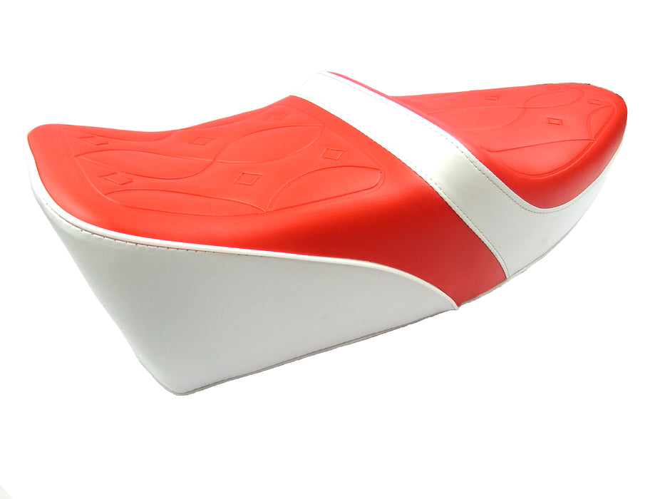 Vespa Yankee Style Seat - Red (Primary) and White (Secondary)