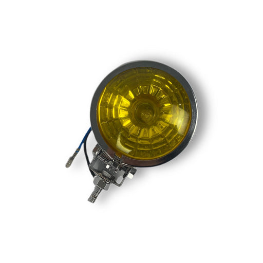 Vespa Lambretta Scooter Chrome Spotlight Spot Light - Yellow Honeycomb Lens 95mm