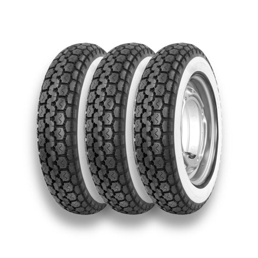 Anlas Sport Classic 350 x 10 Whitewall Lambretta Vespa Scooter Tyre - Pack of 3