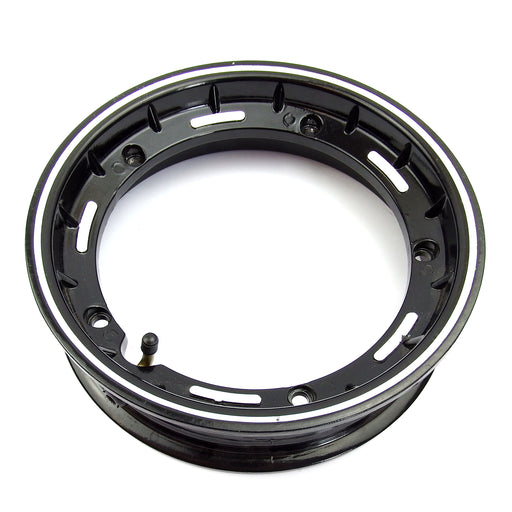 Wheel Rim Tubeless Black and Alloy - Vespa PX/V50/PK/T5/Rally