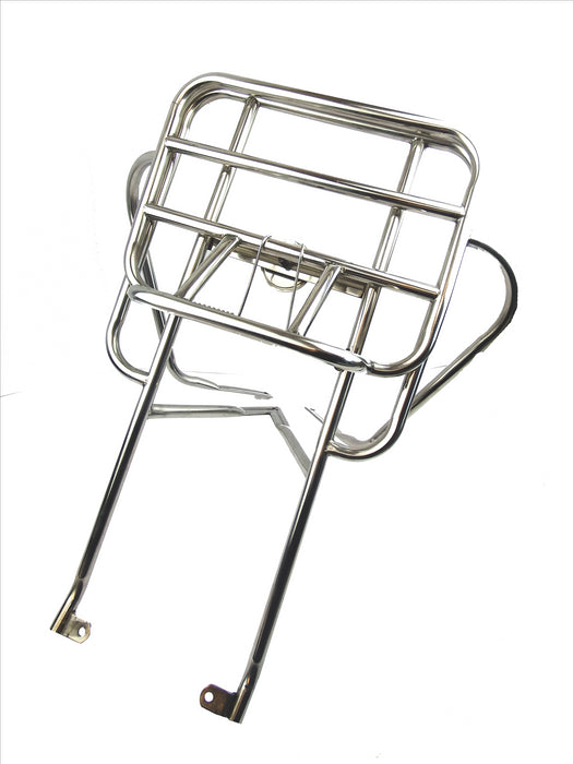 Vespa PX 2 in 1 Jimmy Style Rear Rack Polished Stainless Steel