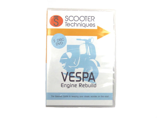DVD - Vespa Engine Rebuild - By Scooter Techniques - 2 Disc