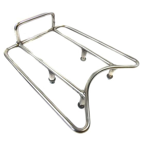 Lambretta Series 3 Li GP SX TV Rear Sprint Rack - Ancillotti Cut Out - Stainless Steel
