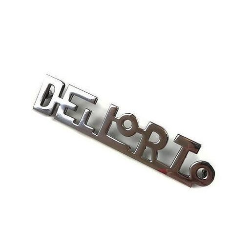 Badge - Leg shield - Dellorto - Chrome
