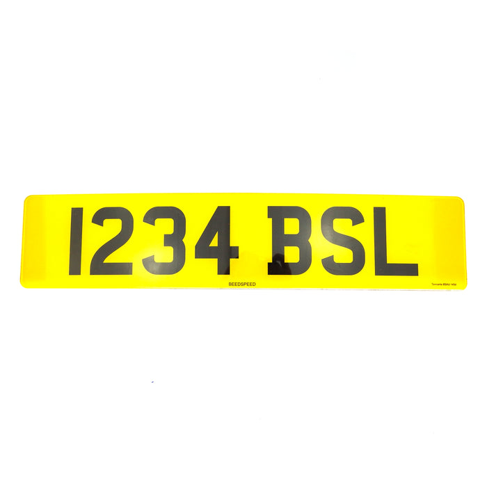 Numberplate - Car - Front And Rear - 20.5x4.75 + Logo