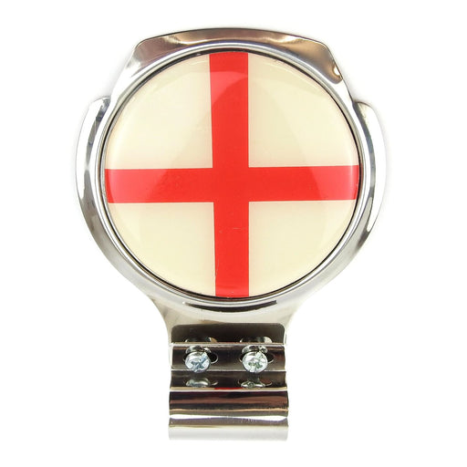 Bar Badge/Plaque - Saint George Cross - Stainless Steel