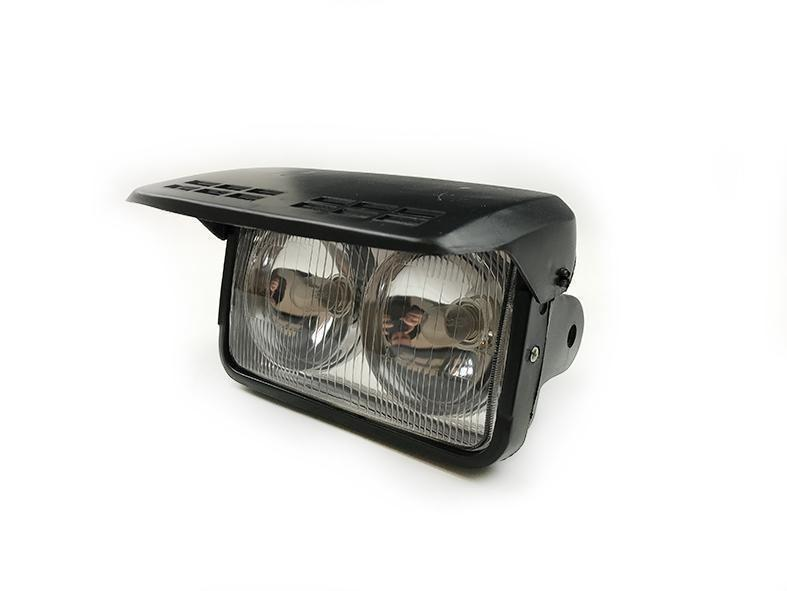 Twin Rectangular Headlight with Cover