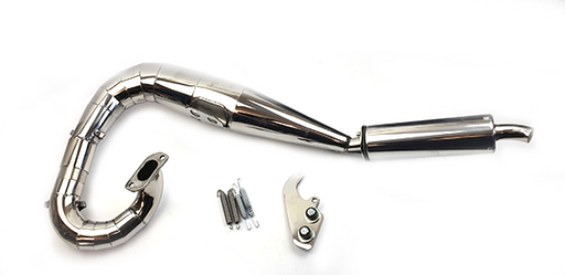 Lambretta Series 3 Li GP SX TV Sterling Performance Expansion Exhaust - Polished Stainless Steel