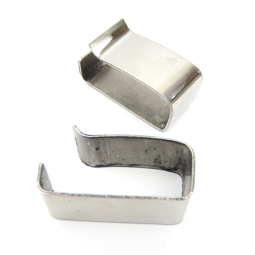 Lambretta - Side Panel Rubber Buffer Clips - Pair - Polished S/S