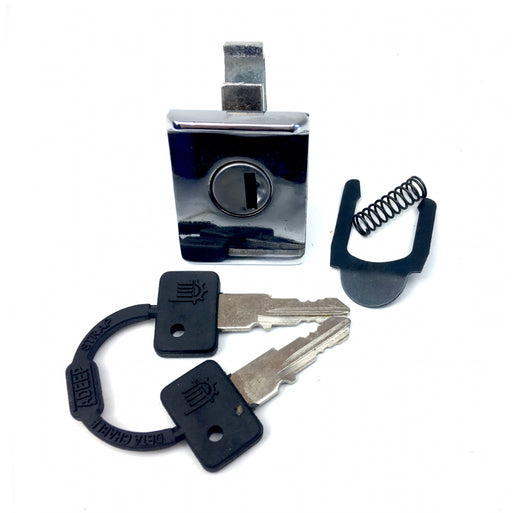 Vespa - Tool Box Lock - Chrome - PX EFL/PX Disc/PK/T5
