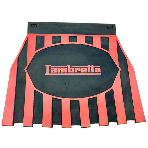 Lambretta Red on Black Striped Mudflap
