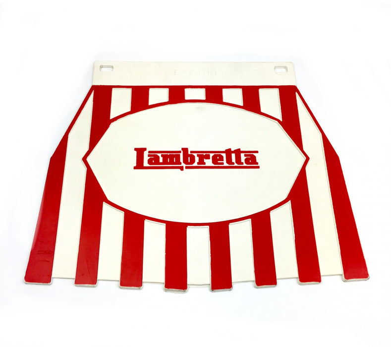 Lambretta Red on White Striped Mudflap