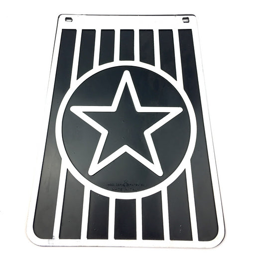 Black and White Star Long Mudflap