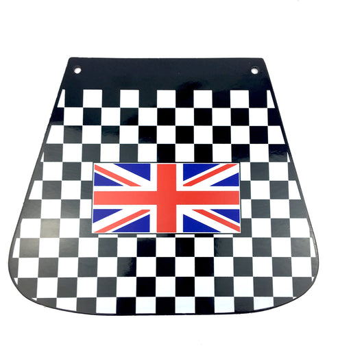 Chequered Mudflap With Union Flag Flat Type
