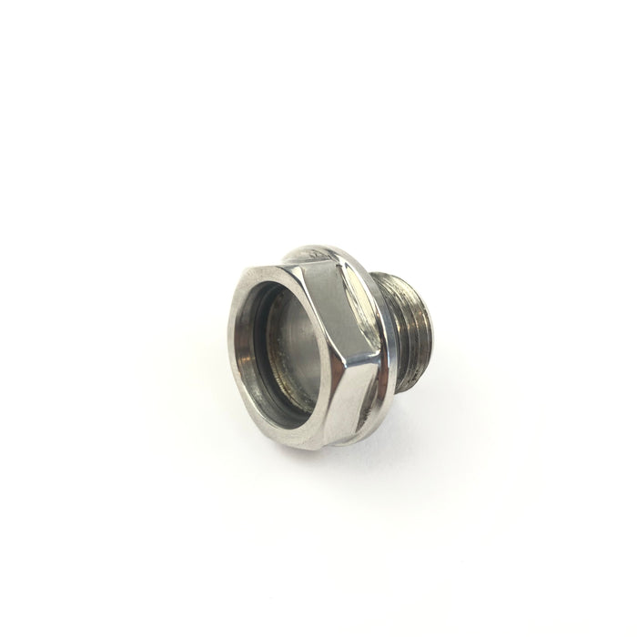 Lambretta - Crankcase Oil Level Plug With Sight Glass - Pol. S/S (F1-C13)