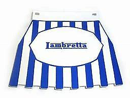 Striped Mudflap With Lambretta Logo - White/Blue