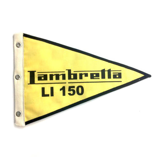 Lambretta Flag Li150 29cm x 18cm Yellow