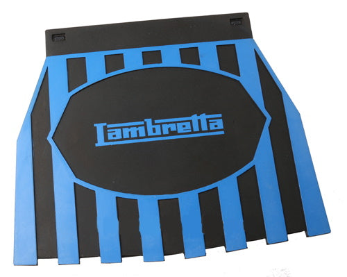 Striped Mudflap With Lambretta Logo - Black/Blue