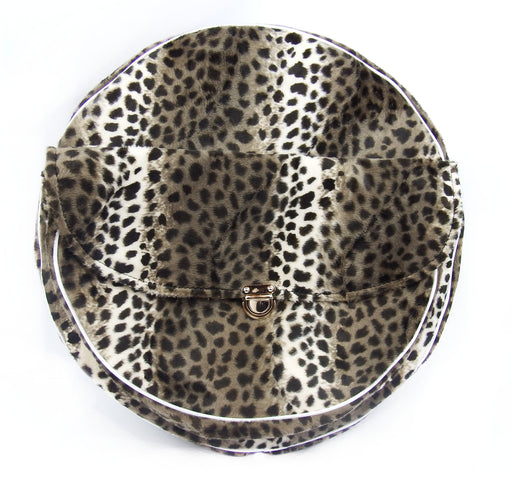 "10"" Leopard Skin Spare Wheel Cover With pouch"