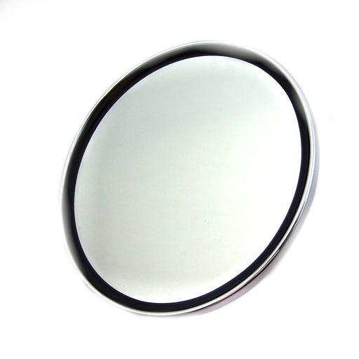 Mirror - Universal - Chrome Mirror Head Round - Black Edge