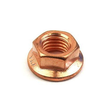 Fastener - Nut - Flange Nut - M7 - Exhaust Nut Copperized