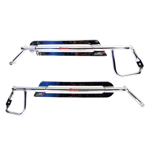 Vespa Side Panel Protector Bars Faco Chrome PX, PE, T5
