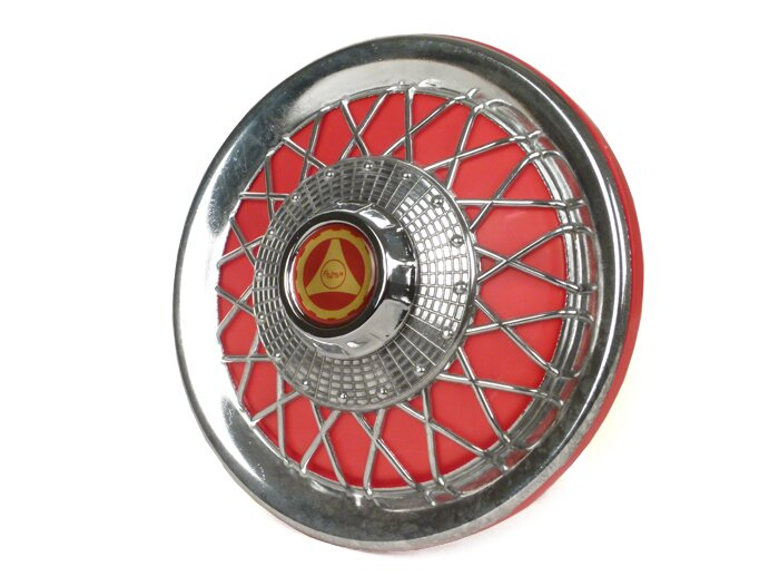 "Vespa PX, T5, PK 10"" Wheel Disc Spoked Red"
