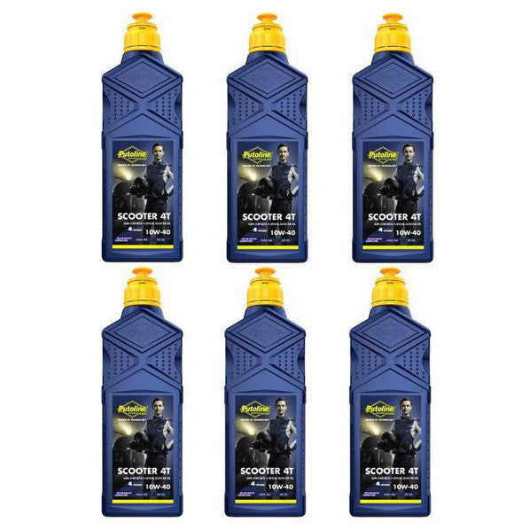 Putoline Scooter 4T Four Stroke Oil Synthetic 10/40 1 Litre 6 Pack
