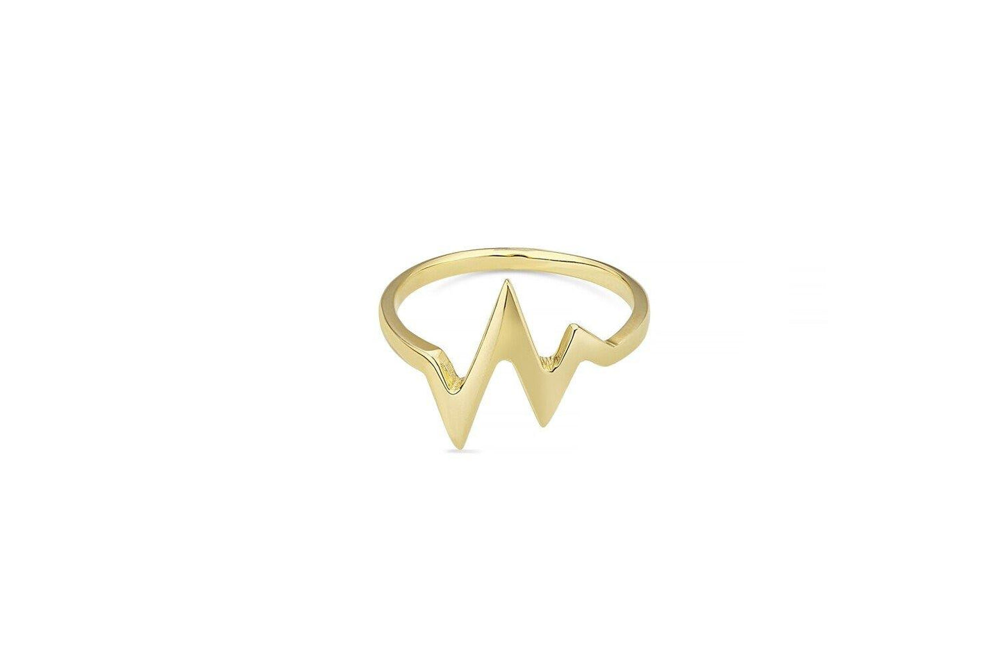 9ct Yellow Gold HeartBeat Ring
