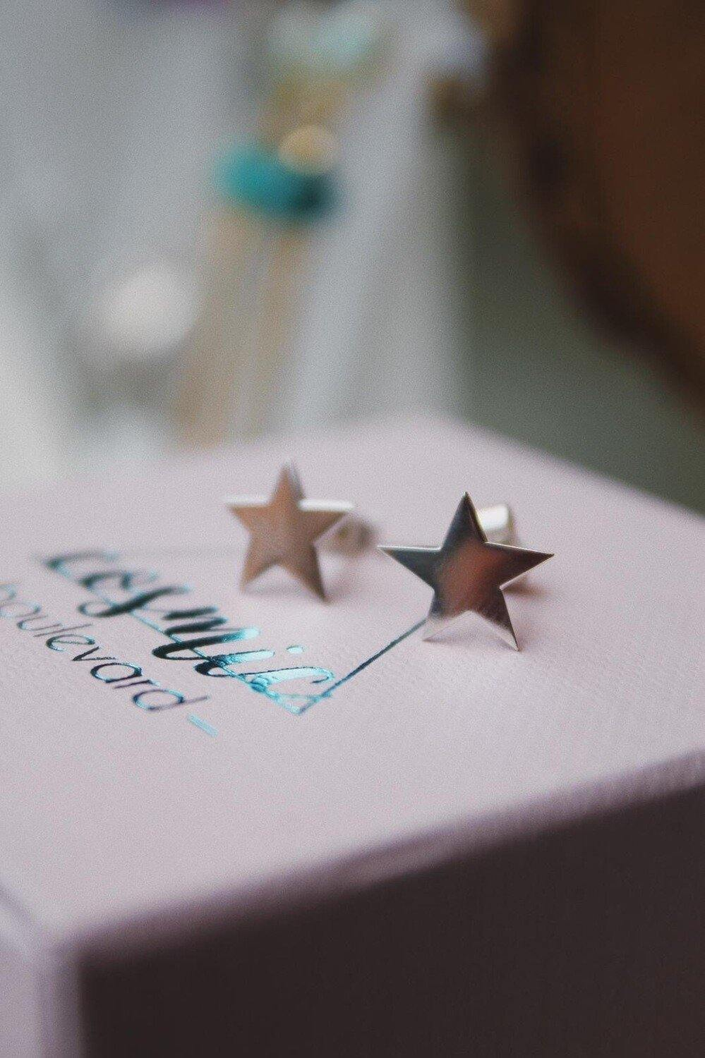 Delicate Silver Star Studs - The Collective Dublin