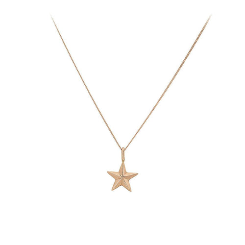 Vega Star Rose 9ct Gold Necklace - The Collective Dublin
