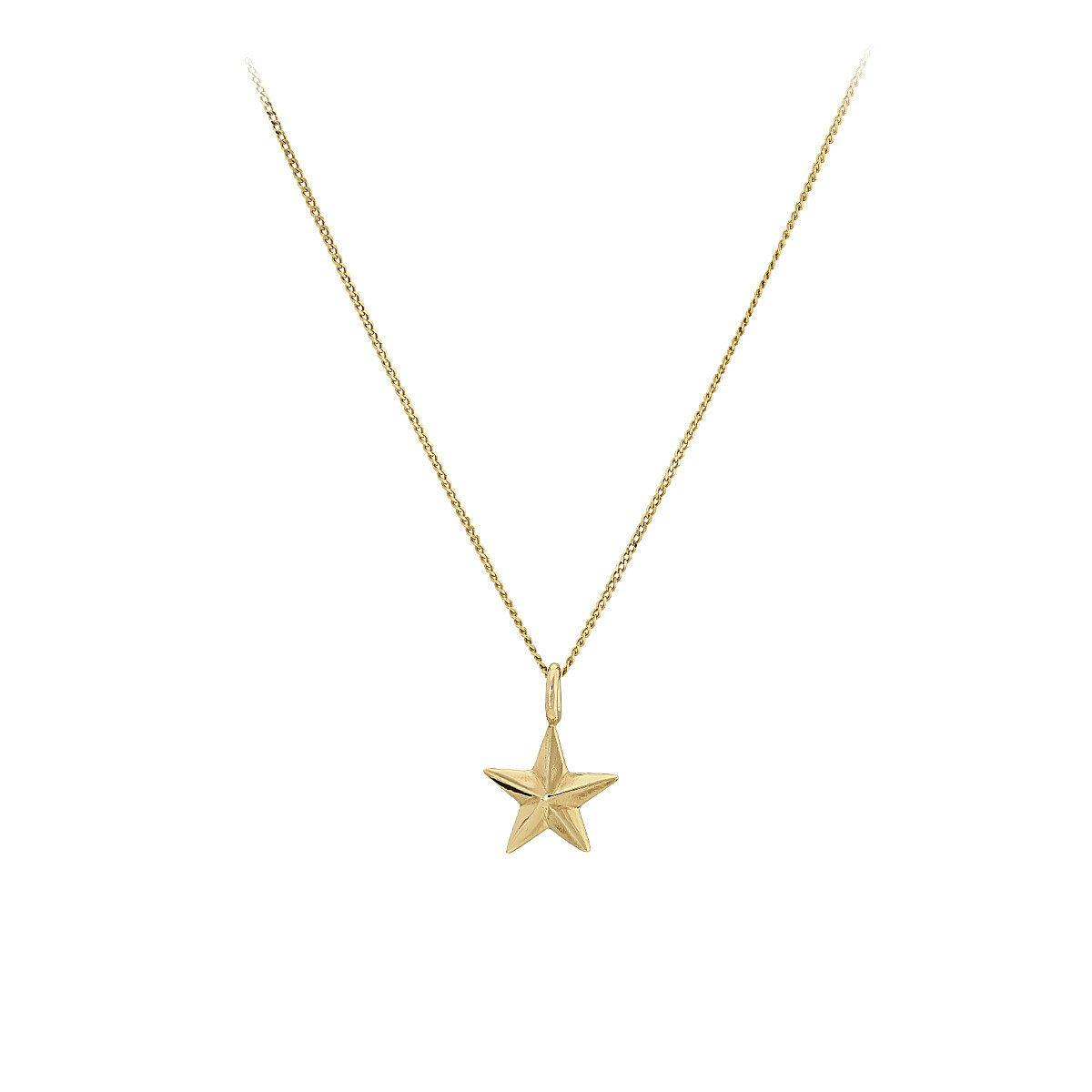 Vega Star Yellow 9ct Gold Necklace - The Collective Dublin