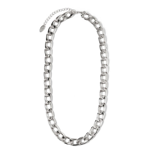 CHUNKY CHAIN NECKLACE - SILVER