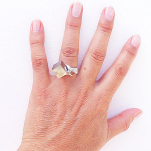 Pyrite cube ring - The Collective Dublin