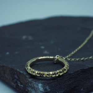 Into The Light Circle Pendant Gold