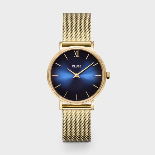 Minuit Mesh Deep Blue, Gold Colour