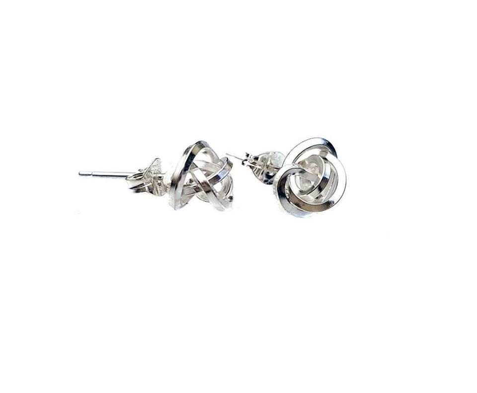 Silver knot Earrings - The Collective Dublin