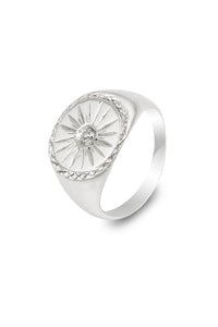"""StarBurst"" Silver Signet Ring - The Collective Dublin"