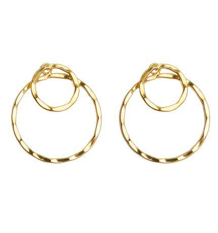 Double Gold Hoop Earrings
